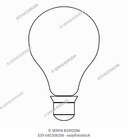 Black And White Drawing Light Bulb Stock Photos And Images Age