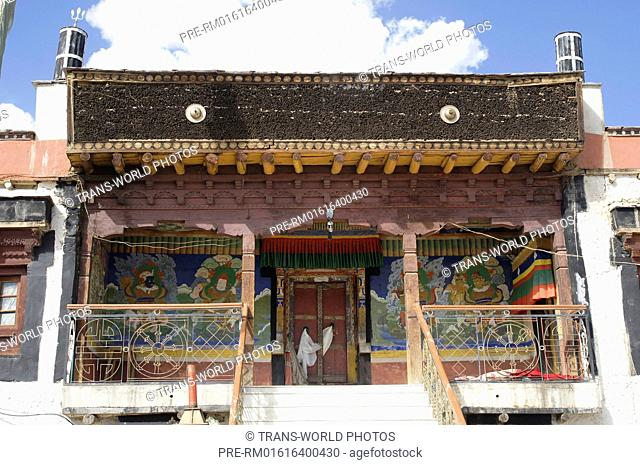Tashi Gephel Gompa, Saboo village, near Leh, Jammu and Kashmir, India / Tashi Gephel Gompa, Dorf Saboo, bei Leh, Jammu und Kashmir, Indien