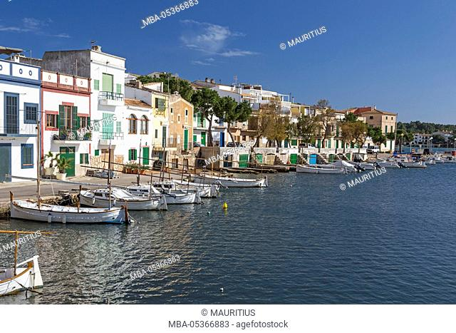 Fishing boats in the harbour of Porto Colom, island Majorca