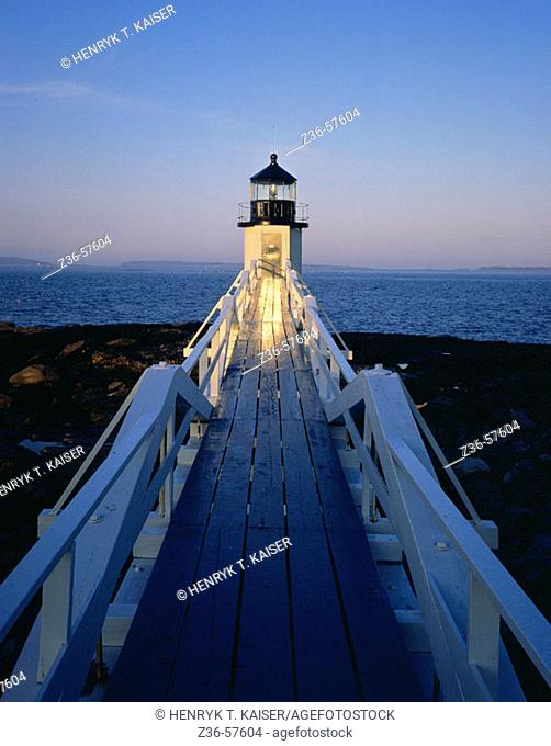 Marshall Point Light. Port Clyde. Maine. USA