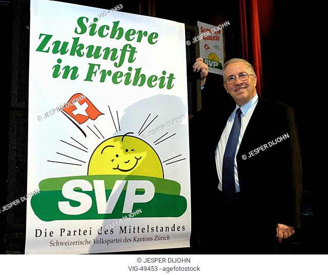 Dr. Christoph BLOCHER, president of the Schweizerische Volkspartei ( SVP ) in the canton Zurich, president of the governing board of EMS - Chemie