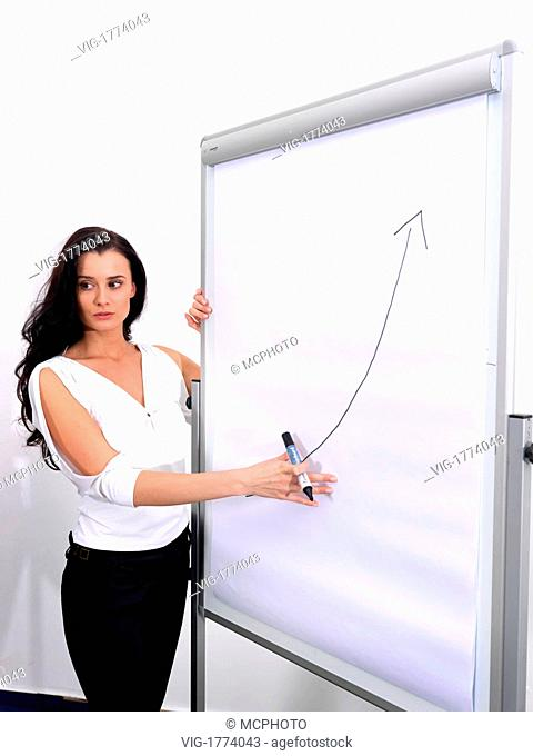 Woman in front of Flipchart - 01/01/2009