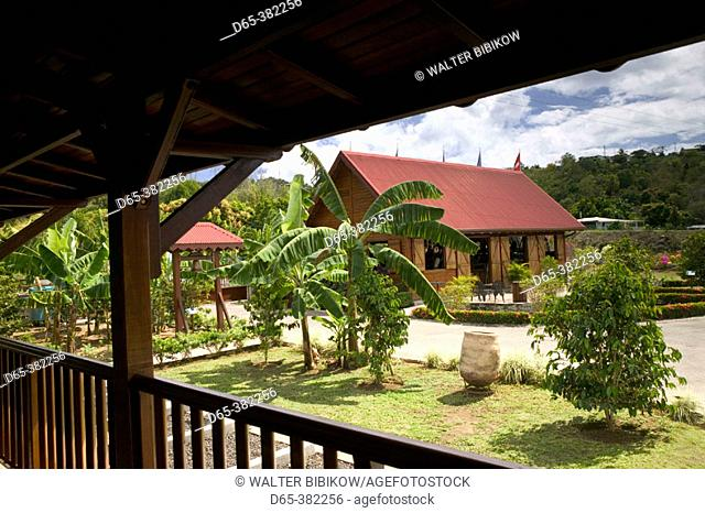 French West Indies (FWI), Guadeloupe, Basse-Terre, Vieux-Habitants: Musee du Cafe- Coffee Museum & Roasters. Museum Buildings