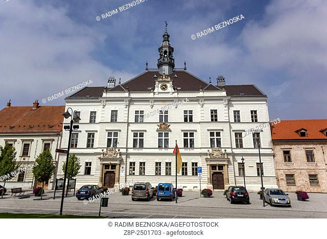 Town Hall, main square, Valtice, UNESCO, South Moravia, Czech Republic, Europe