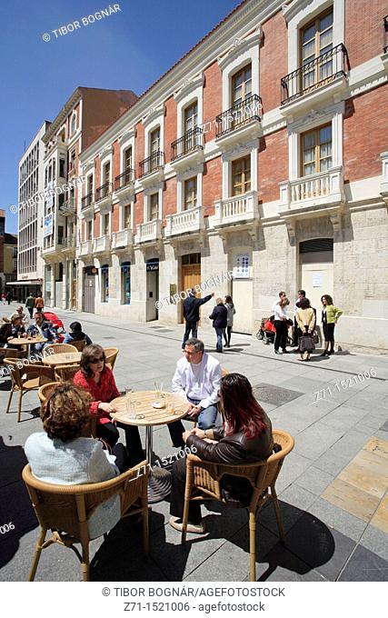 Street scene, Palencia, Castilla-Leon, Spain