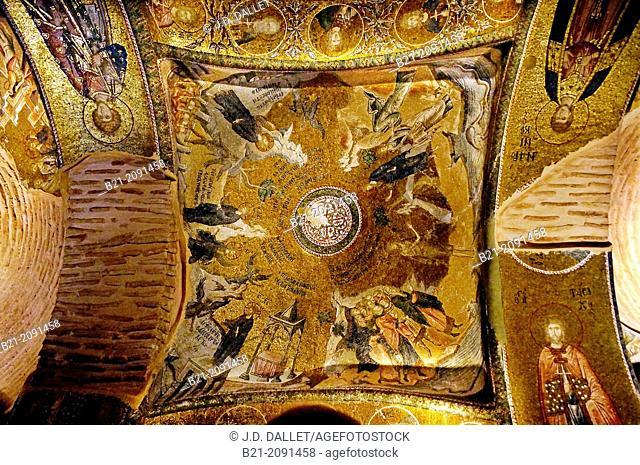 Mosaic, Church of the Holy Saviour in Chora or Kariye Camii, Istanbul, Turkey