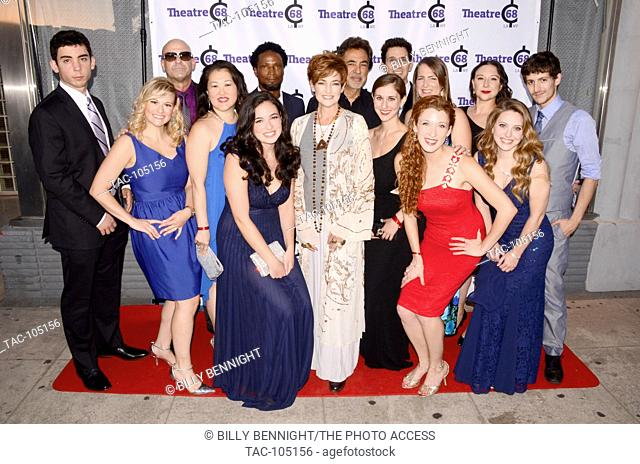 Elvis Nolasco, Joe Mantegna. Carolyn Hennessy, Ronnie Marmo attend the Theatre 68 Grand Opening Party in North Hollywood on September 17, 2016
