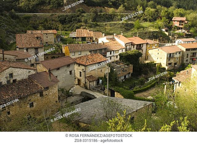 View of Tobera, Las Merindades, province of Burgos, Castilla y Leon, Spain