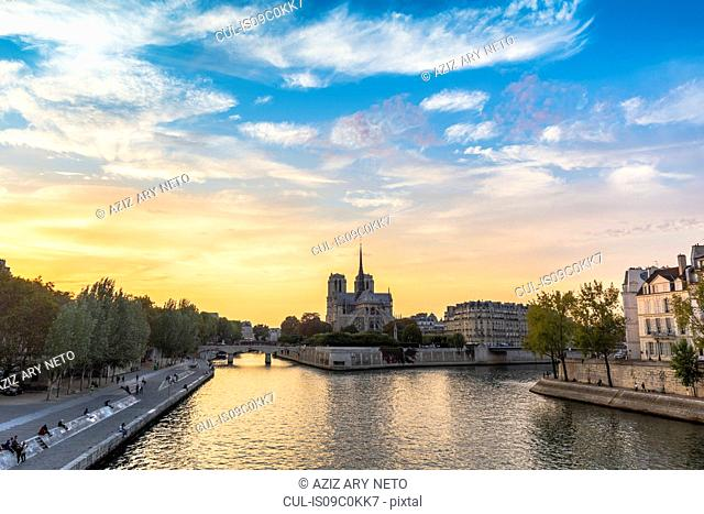 River Seine and Notre-Dame, Paris, France