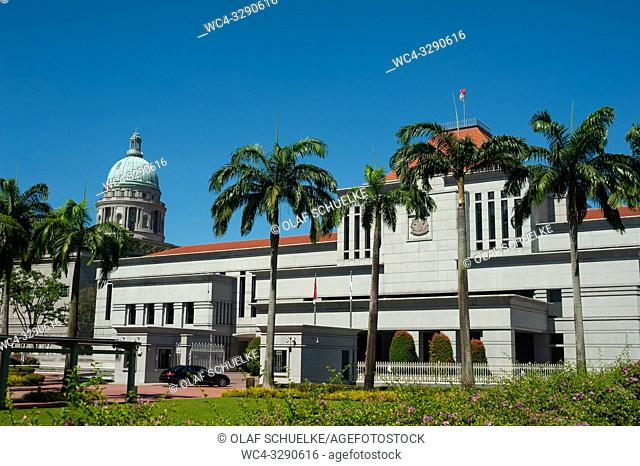 Singapore, Republic of Singapore, Asia - A view of the Parliament House in the central business district of the city state