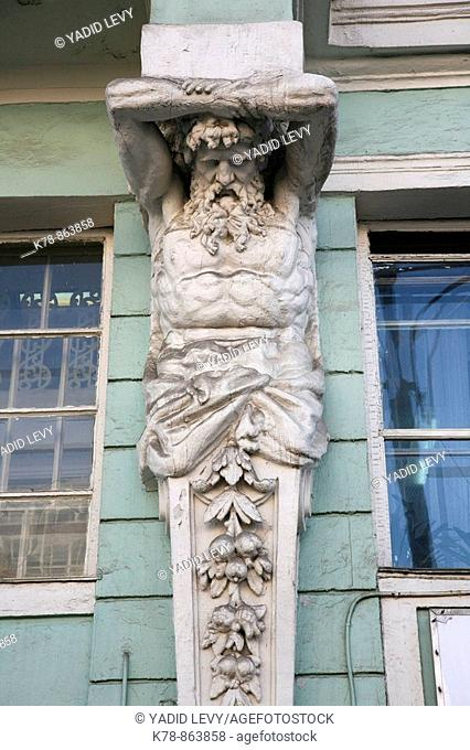 Sep 2008 - Detail from an art nouveau building, Moscow, Russia