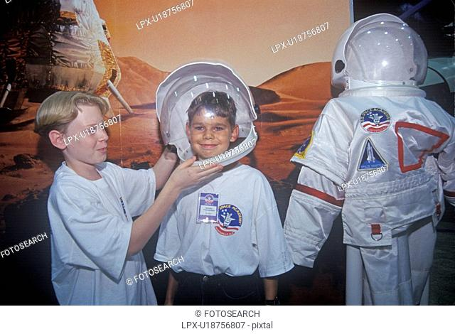 Children try on $1 million spacesuit at Space Camp