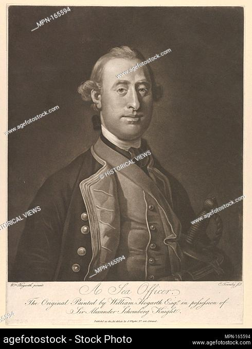 A Sea Officer. Engraver: Charles Townley (British, 1746?-1801 or later); Artist: After William Hogarth (British, London 1697-1764 London); Publisher: Published...