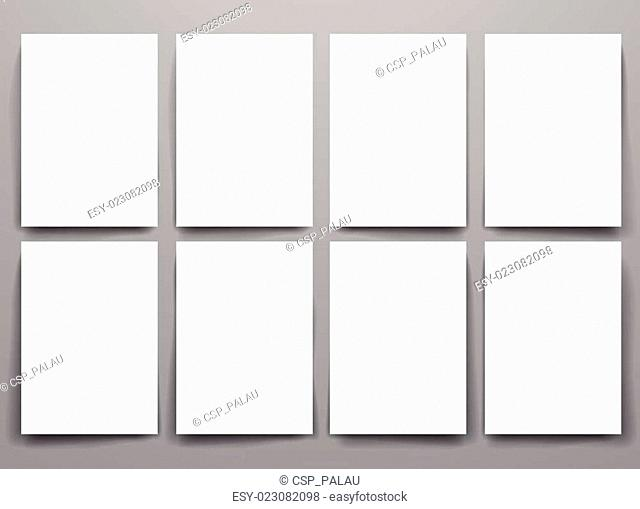 Design template blank booklets in vector graphics