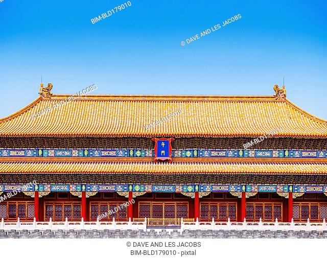Traditional architecture of historical building, Beijing, Beijing Municipality, China