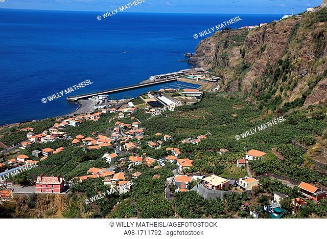 City and new Marina of Lugar de Baixo, Madeira, Portugal, Europe