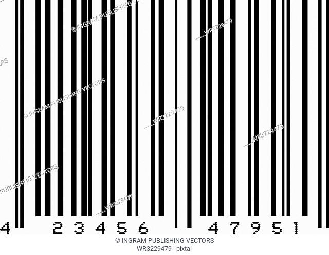 Illustrated dummy bar code in black and white