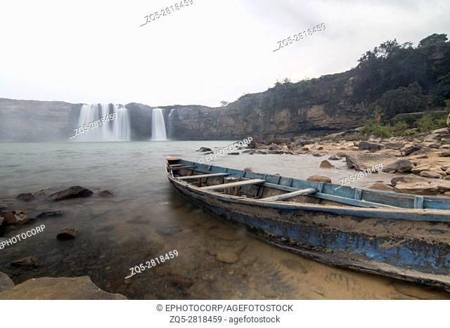 Chitrakoot waterfall, Chitrakoot, Chhattisharg. Located at a distance of 38 kilometers (24 miles) to the west of Jagdalpur