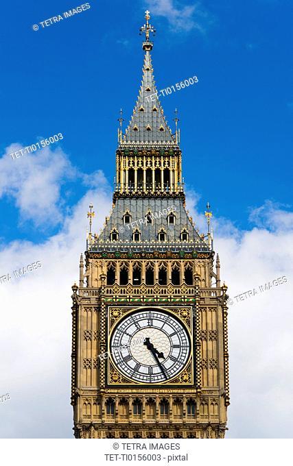UK, London, Detail of Big Ben