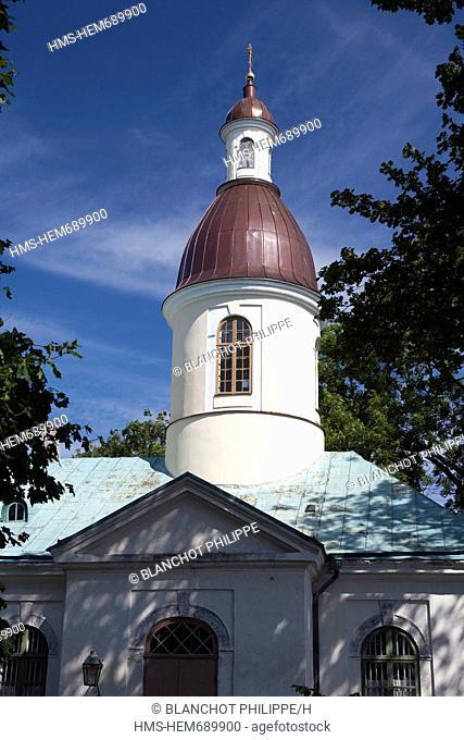 Estonia Baltic States, Saare Region, Saaremaa Island, Kuressaare, Chapel downtown