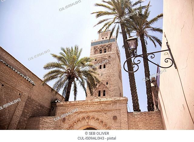 Koutoubia Mosque, off Jamaa el Fna Square, Marrakech, Morocco