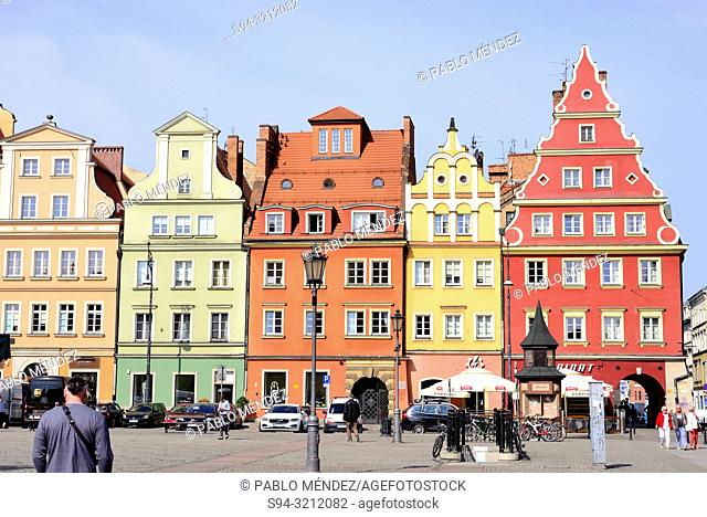 Salt square of Wroclaw, Silesia, Poland