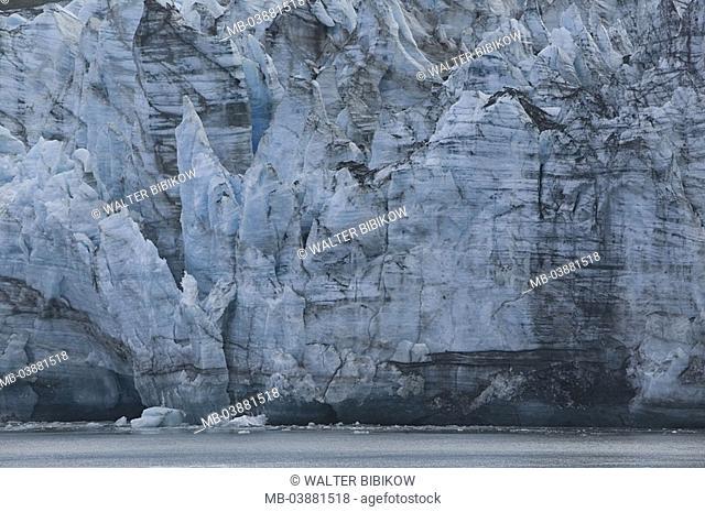 USA, Alaska, Glacier Bay national park, glacier-ice, detail, North America, national-park, southeast-Alaska, Lamplugh Glacier, Lamplugh-Gletscher, nature