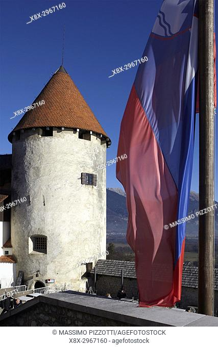 The tower of the Bled castle, Slovenia