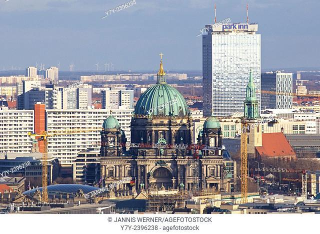 Downtown Berlin cityscape in Berlin, Germany in 2013