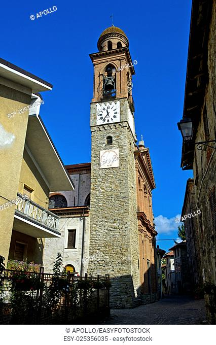 Church tower, Castino, Piedmont, Italy