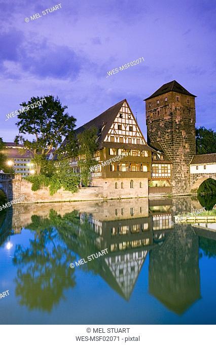 Germany, Nuremberg, old water tower