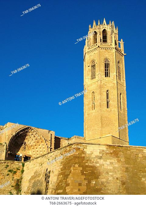 The Seu Vella (old cathedral), Lleida, Catalonia, Spain