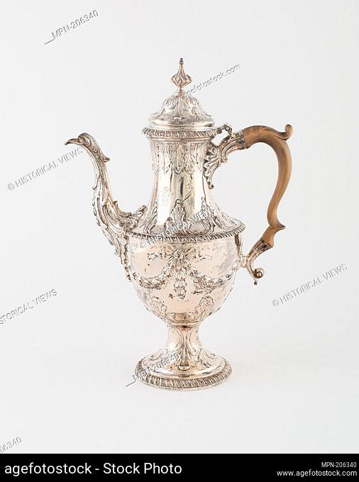 Coffee Pot - 1771/72 - Francis Crump English, active 1741-73 London, England - Artist: Francis Crump, Origin: London, Date: 1771–1772, Medium: Silver
