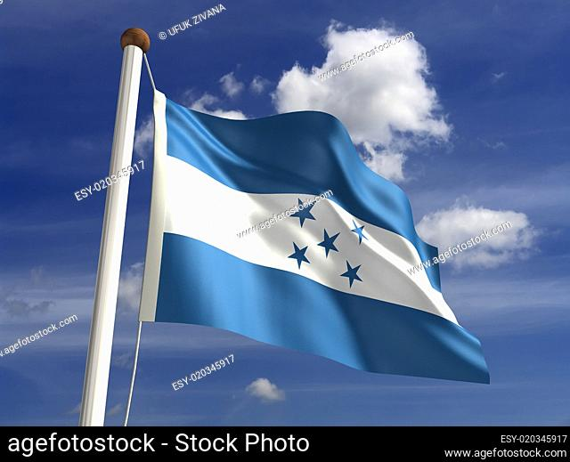 Honduras flag (with clipping path)