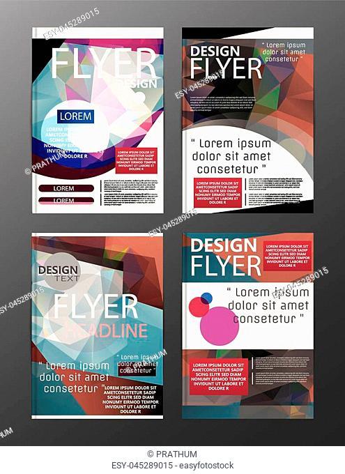 Polygon Modern Brochure Layout design template.Flyer Leaflet cover Presentation