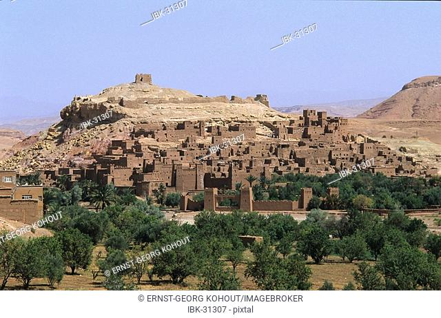 A stronghold in the desert of Morocco, world cultural heritage