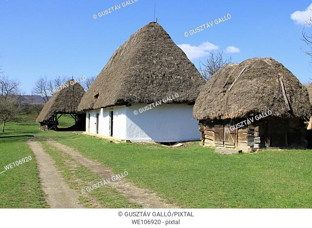 Country house and the road. Hungary, Szentendre, open-air museum