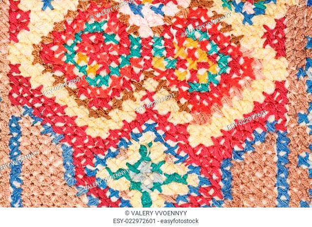 cross stitch needlework close up