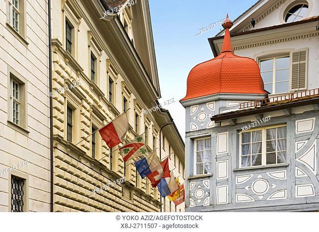 Traditional house, Lucerne, Switzerland