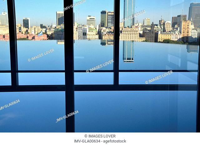 View from Buenos Aires building, Puerto Madero, Buenos Aires, Argentina