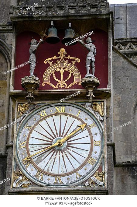 Clock, Cathedral Church of Saint Andrew, Wells Cathedral, Wells, England