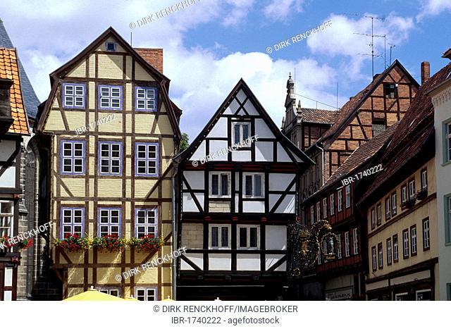 Half-timbered house in Quedlinburg, Unesco World Heritage Site, Saxony-Anhalt, Germany, Europe