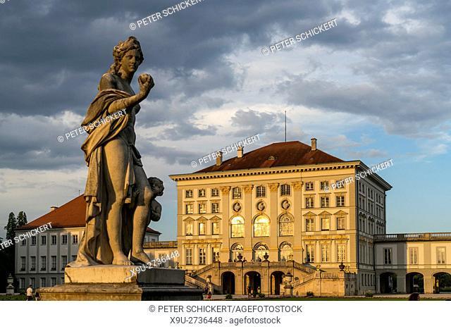 Nymphenburg Palace in Munich, Bavaria, Germany