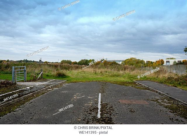 The end of the road on a industrial estate in Cheshire, UK