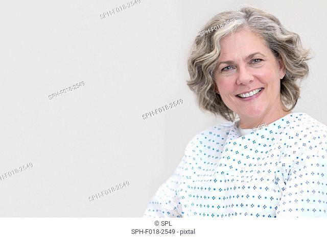 Female patient smiling towards camera