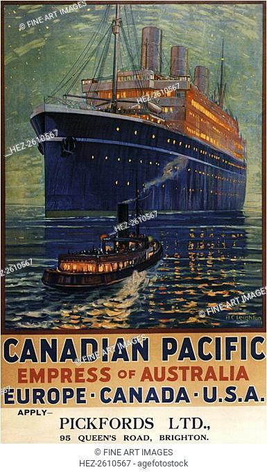 RMS Empress of Australia, 1925. Artist: Leighton, Alfred Crocker (1901-1965)