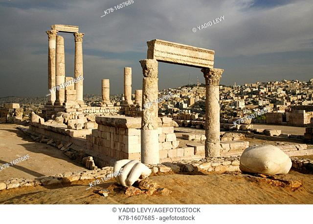The Temple of Hercules at the Citadel, Amman, Jordan