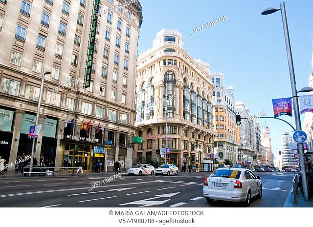 Gran Via. Madrid, Spain