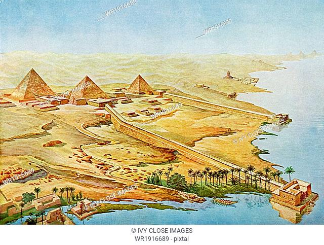 Abusir, located near Cairo, was the main royal necropolis for 5th Dynasty (c. 2494-2345 B.C.) Egyptian rulers. It was once home to 14 pyramids