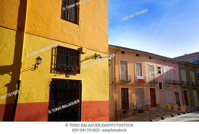 Xativa old town street in Valencia also Jativa Spain